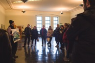 Gord Mitchell, general manager of RC Harris Water treatment plant, addresses Blue Drinks Toronto participants at the beginning of the tour (March 2018), photograph by Aly Ambler